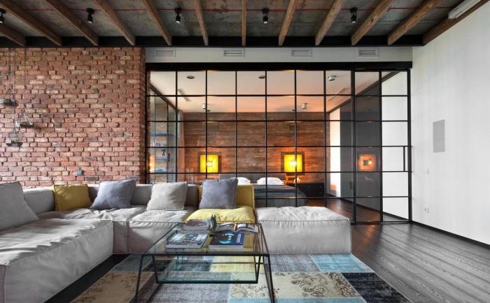 Потолок в стиле лофт: натяжные потолки в стиле лофт с балками, дизайн потолочного плинтуса