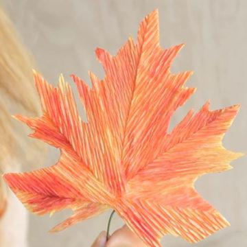 Поделки из осенних листьев: мастер-класс с пошаговым фото