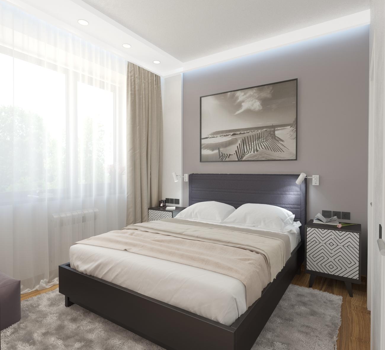 Спальня в светлых тонах: 100 фото примеров дизайна интерьеров