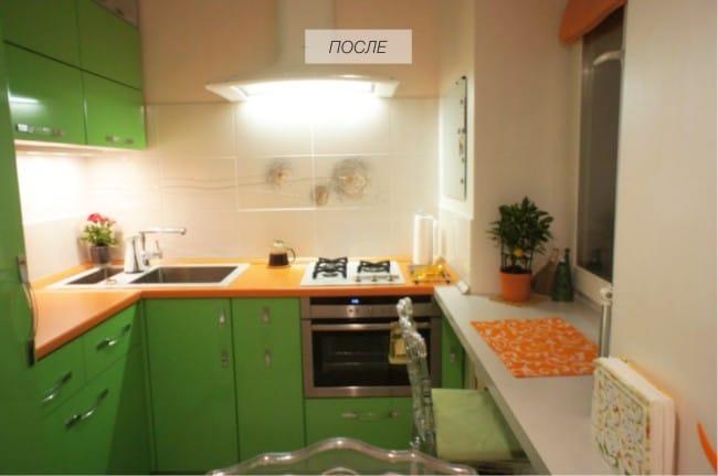 Готовый план ремонта маленькой кухни [под ключ]