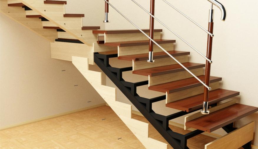 отделка лестницы из металла