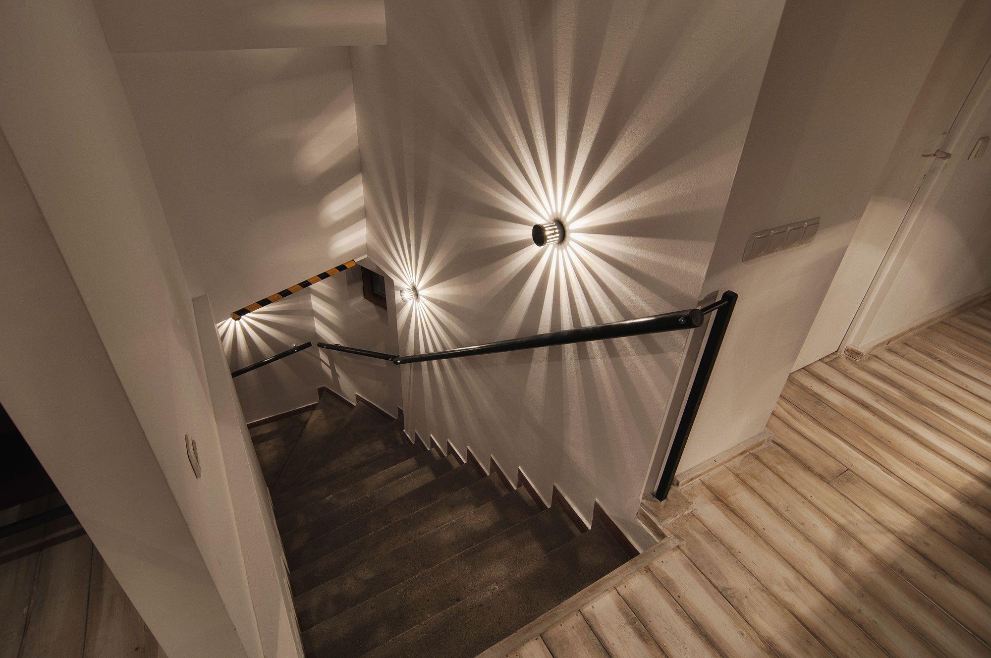 подсветка лестницы на ступенях