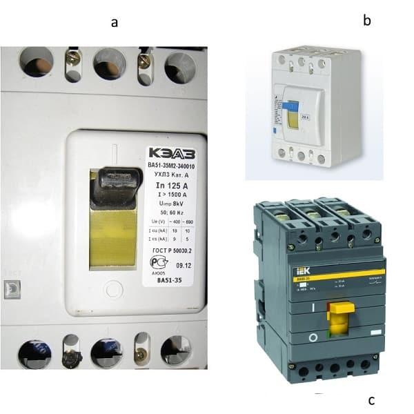 Как выбрать автоматический выключатель по мощности и току нагрузки?