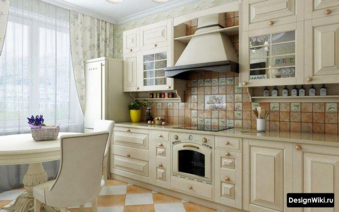 кухня в сиреневом цвете дизайн фото