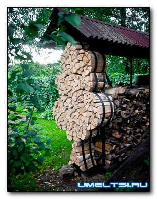 Как складывать дрова: способы. поленница для дров