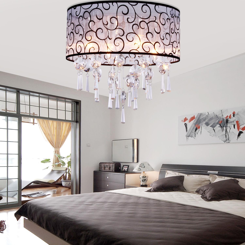 Люстра в спальню - 110 фото современных моделей для спальни