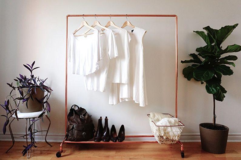 Напольная вешалка для одежды (75+ фото)