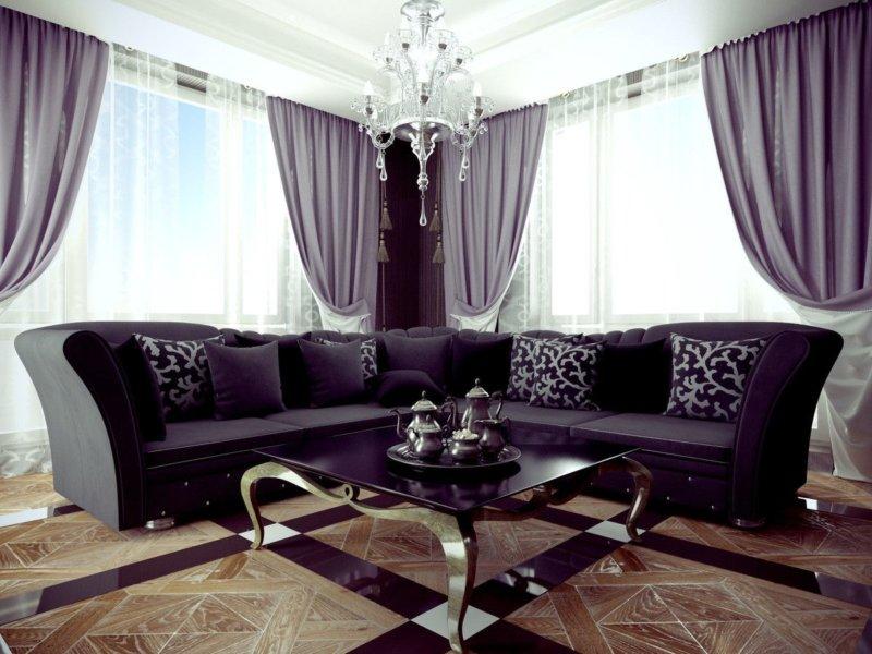 Дизайн спальни в сиреневых тонах +70 фото с фиолетовым оттенком