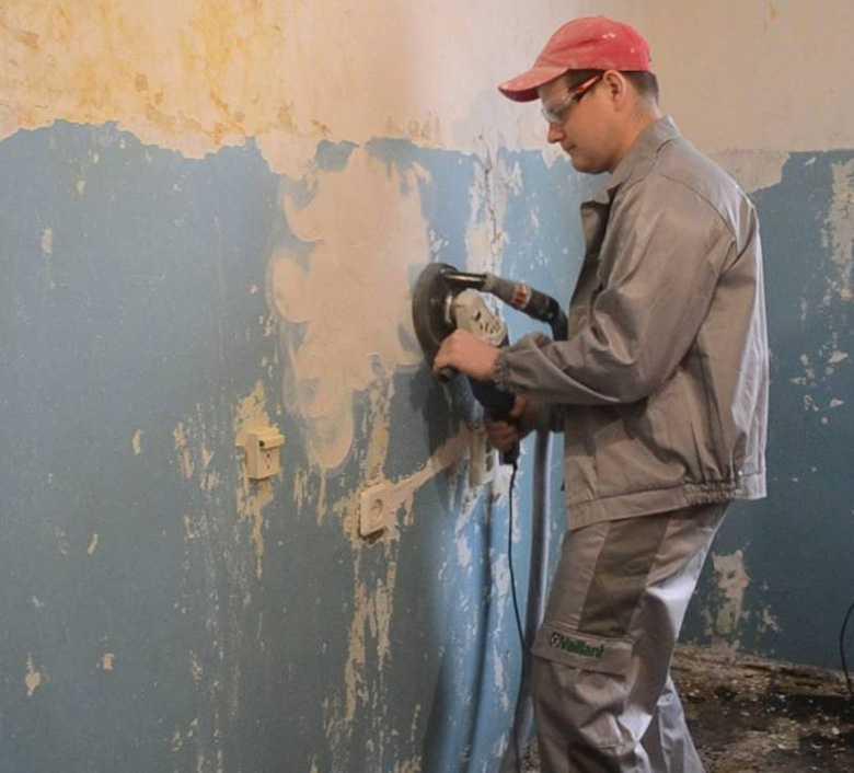 Как снять старую масляную краску со стен