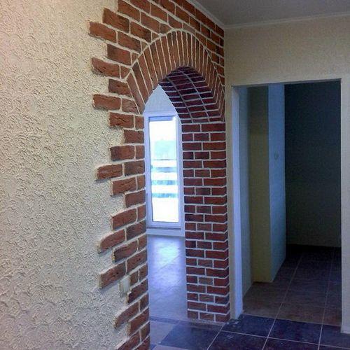 Декоративный камень в отделке арочных пространств - 72 фото примера