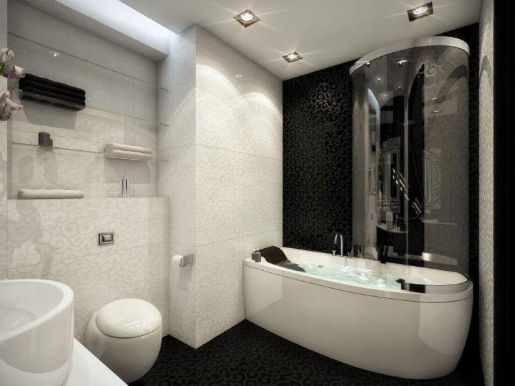 Черно-белая спальня: фото, примеры оформления