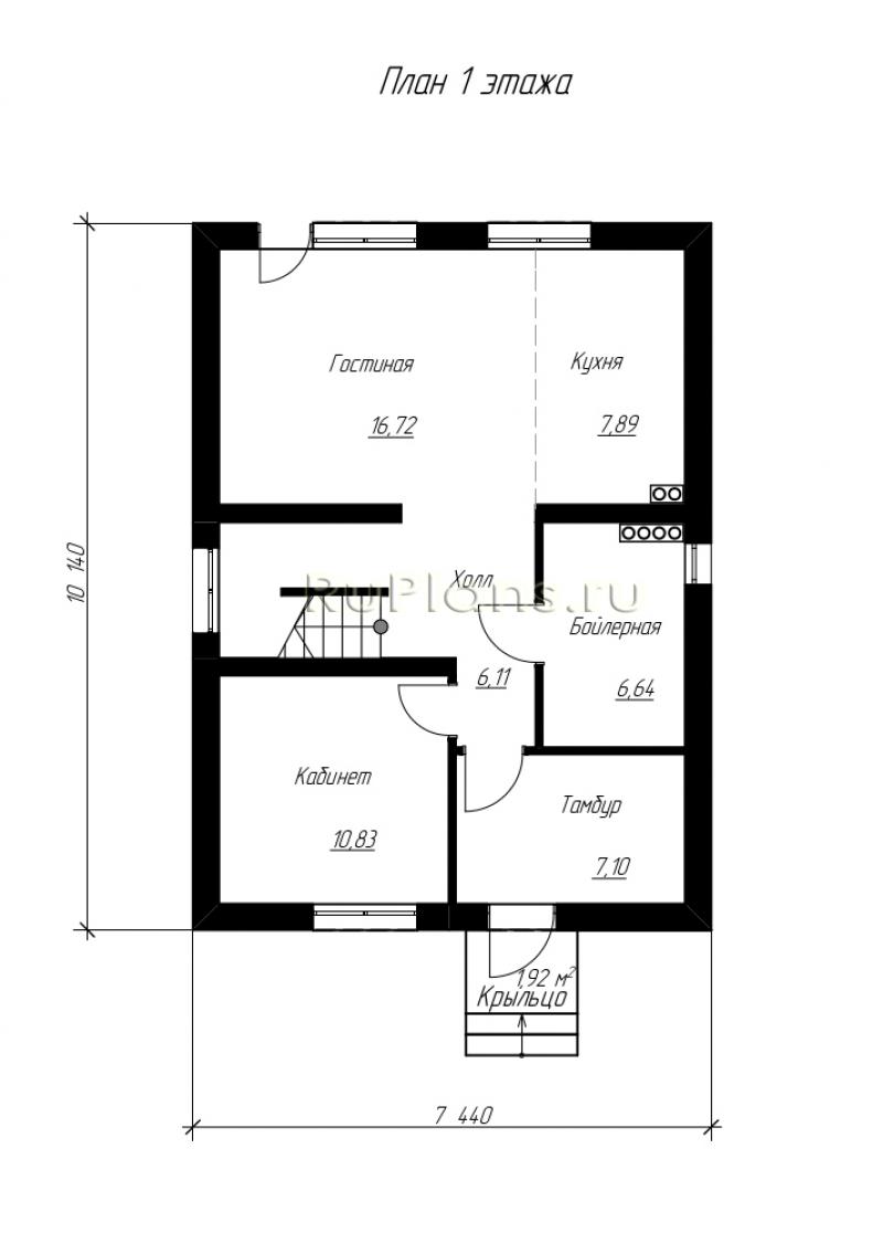 Правильная планировка дома 6 на 6 – пять полезных советов