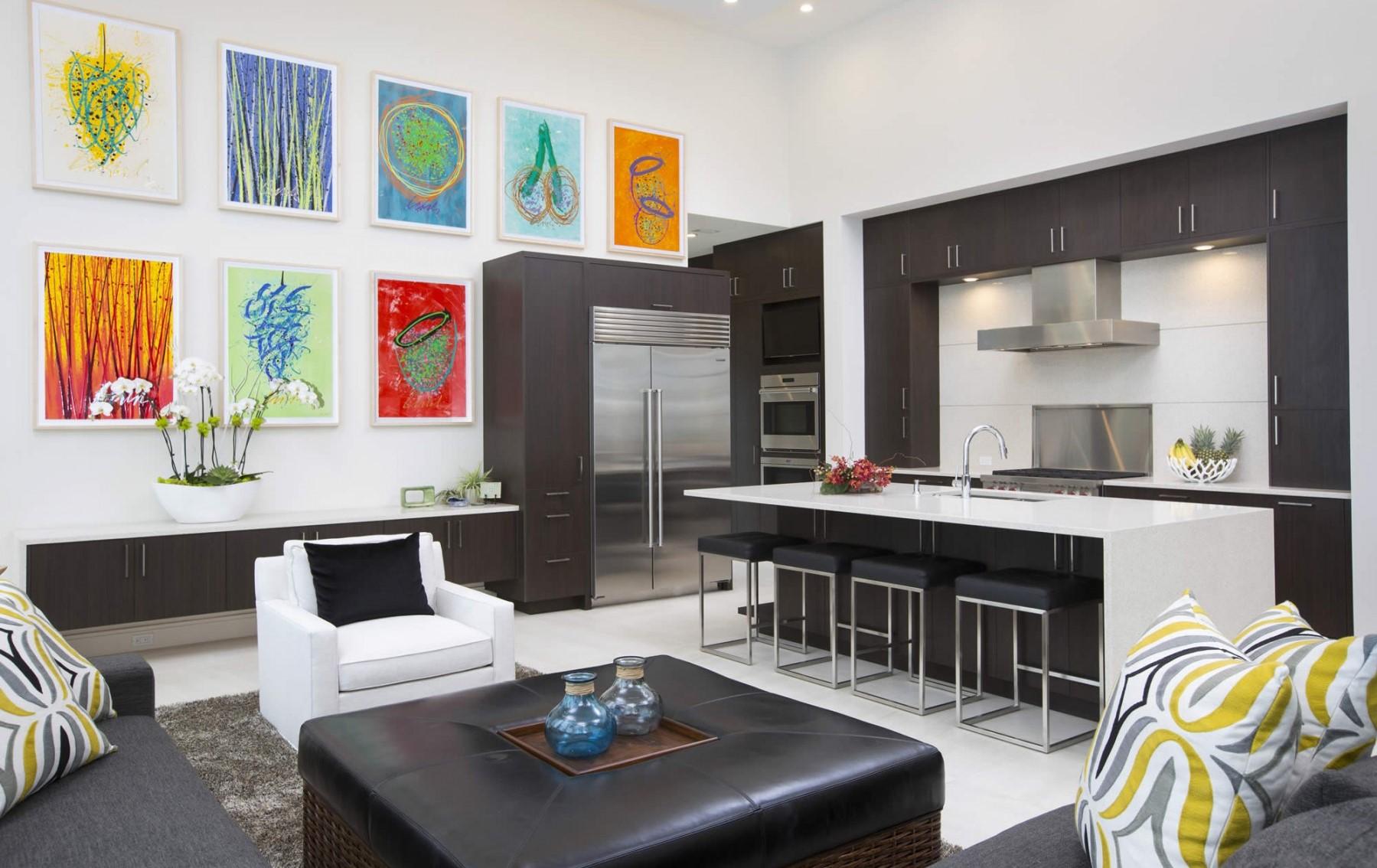 Модульные картины на кухню в интерьере: маленькие, черно-белые современные, 3д - распечатать и в какую цену