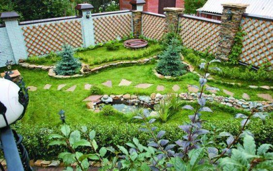 Дизайн сада и огорода в частном доме (89 фото): ландшафтный дизайн современных дворов и декоративных грядок