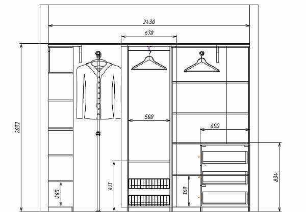 Размеры шкафов-купе в прихожую
