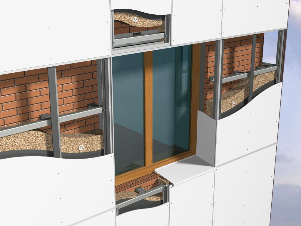 Особенности установки навесных вентилируемых фасадов из керамогранита | стройфасад