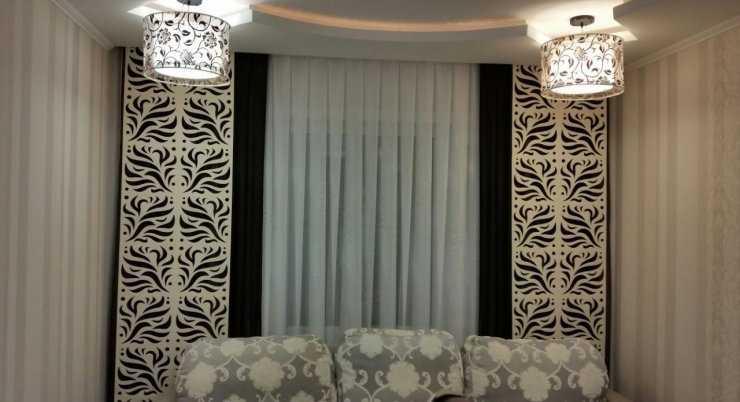 шторы для зала фото в обычную квартиру