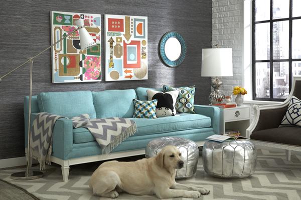 Оформление стены за диваном - подборка фото