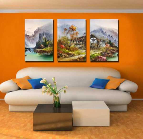 Как вешать картины на стену варианты