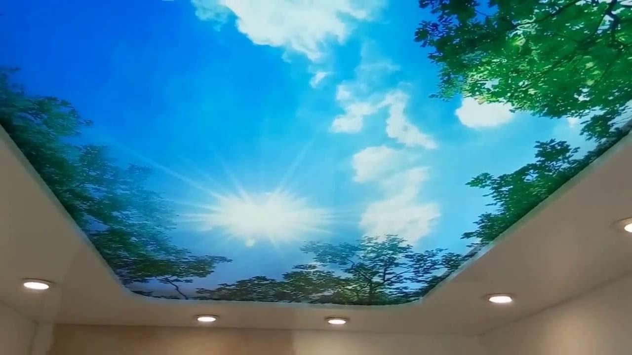 натяжные потолки 3д фото