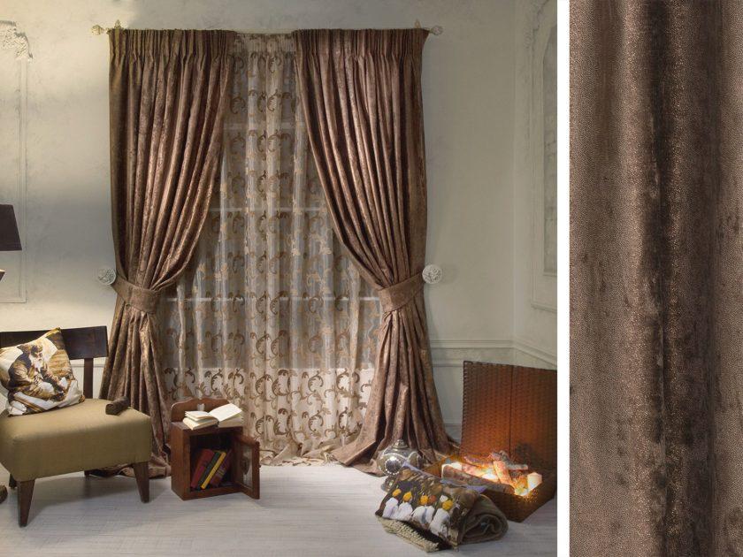 Шторы коричневого цвета: виды, ткани, оттенки (венге, шоколад), дизайн, сочетания, декор