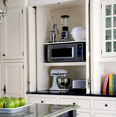 хранение в кухонных шкафах