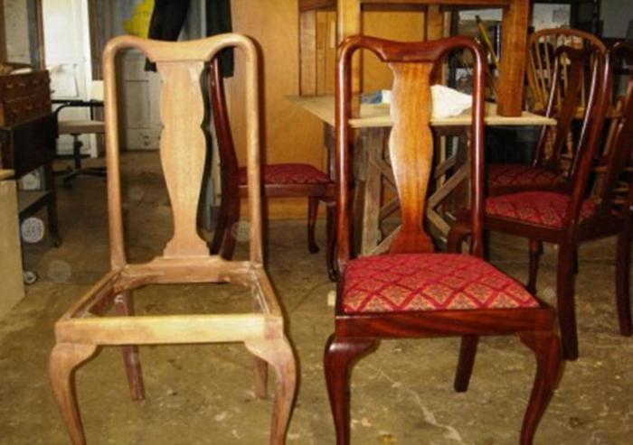 как поменять обивку на стуле своими руками