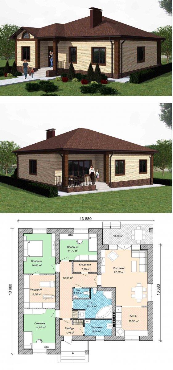 Проекты домов и коттеджей бесплатно: чертежи и фото   home-ideas.ru