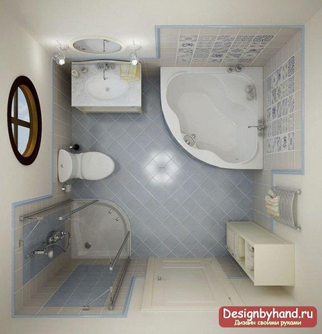 фото совмещенного санузла с ванной