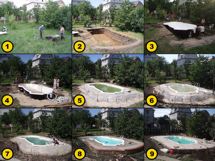 Бассейн на даче своими руками: как сделать самому, схемы сооружения