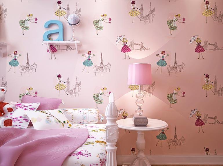 Обои для детской комнаты для девочек: 85+ лучших фото интерьеров