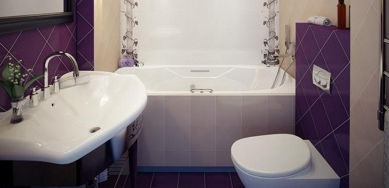 Плитка для маленькой ванной комнаты — подбор и дизайн (фото, видео)