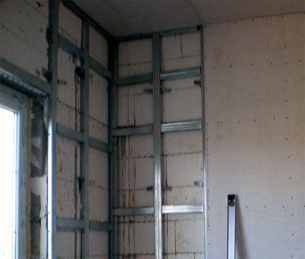 Монтаж гипсокартона на стену: крепление к каркасу из профилей