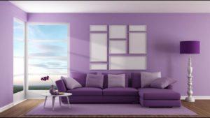 Обои фиолетового цвета в интерьере: виды, дизайн, подбор штор, 70 фото