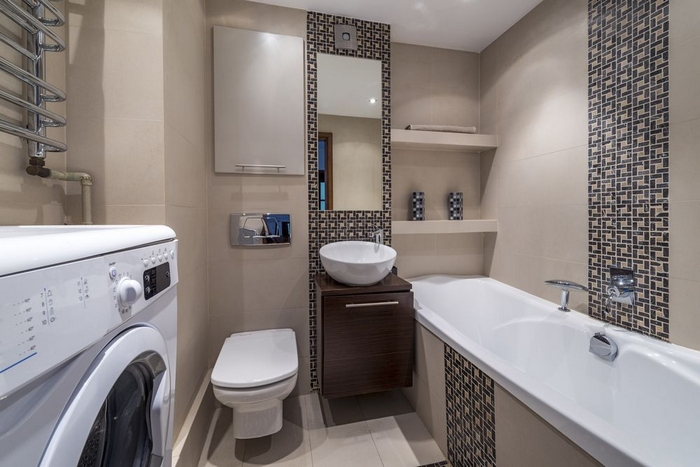 проект ванной комнаты с туалетом
