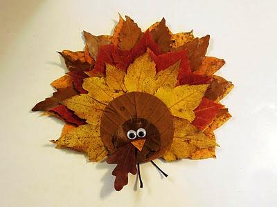 как сделать птицу из листьев