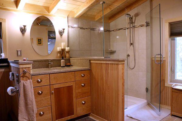 Ванная комната в деревянном или каркасном доме | дом идей