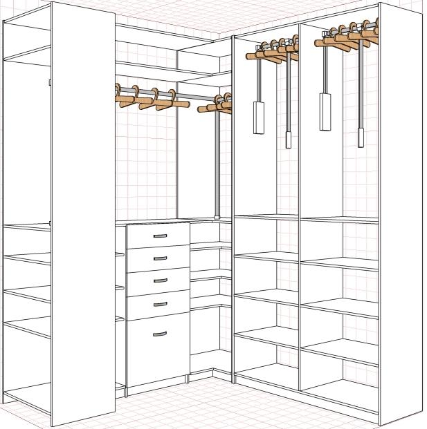 гардеробная комната планировка фото