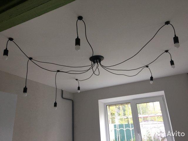 Люстра «паук» в интерьере: виды и особенности выбора люстры - 21 фото