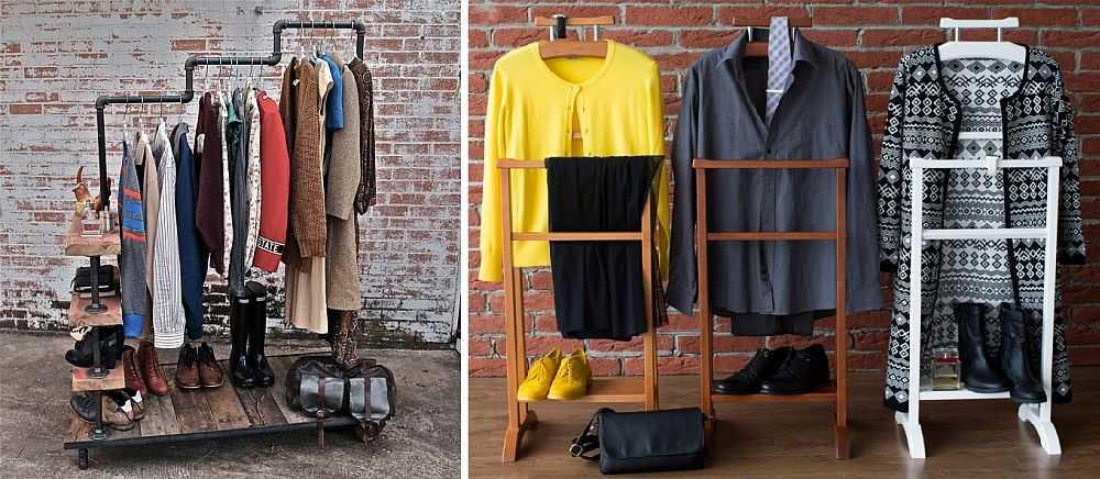 ширина вешалки для одежды