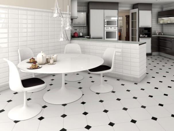 Плитка для кухни на пол: реальные фото, что стоит знать при выборе, укладка