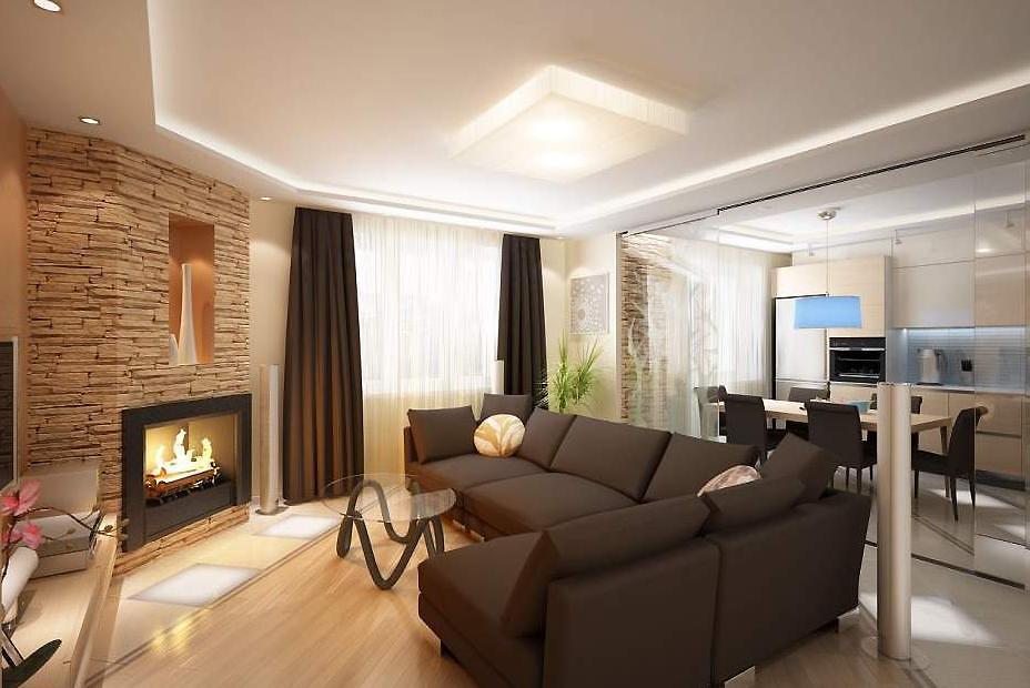 дизайн небольшой гостиной в частном доме