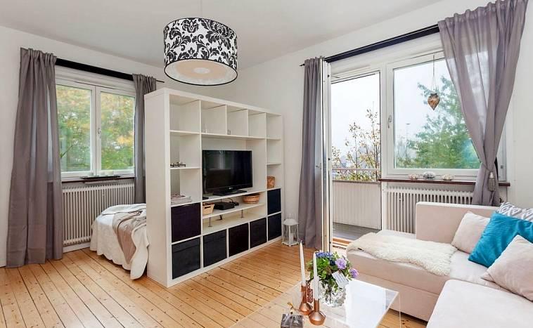 Создание рабочего места в гостиной: зонирование, интерьер, освещение