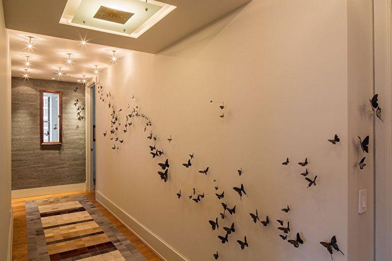 Как украсить стену комнаты своими руками - 78 фото примеров