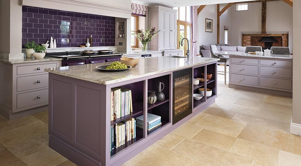 Фиолетовая кухня: варианты оригинального выбора и современные идеи дизайна (100 фото)