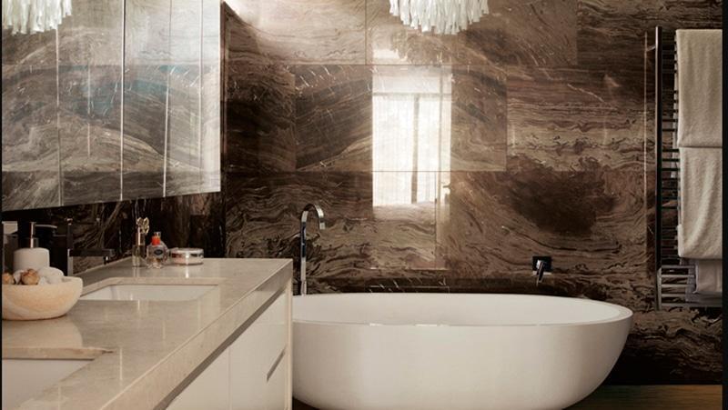 Панели для ванной комнаты под плитку – фото отделки