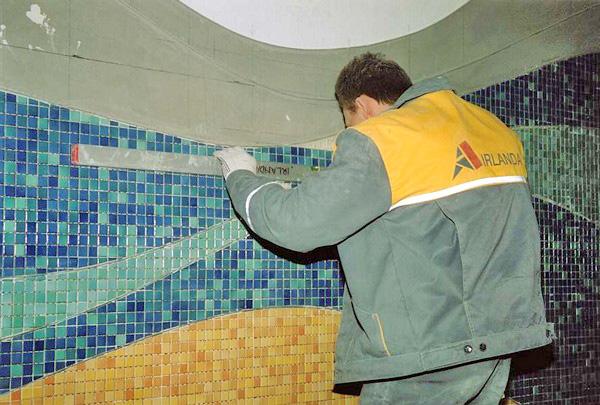 как класть плитку мозаику