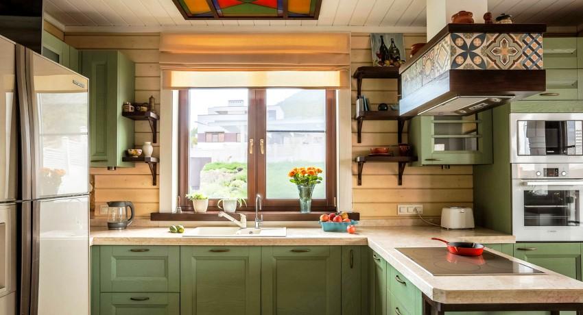 варианты штор для кухни короткие