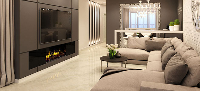 Встраиваемый электрический камин (58 фото): встроенный в стену или в мебель электрокамин, варианты с нишей, размеры и примеры дизайна
