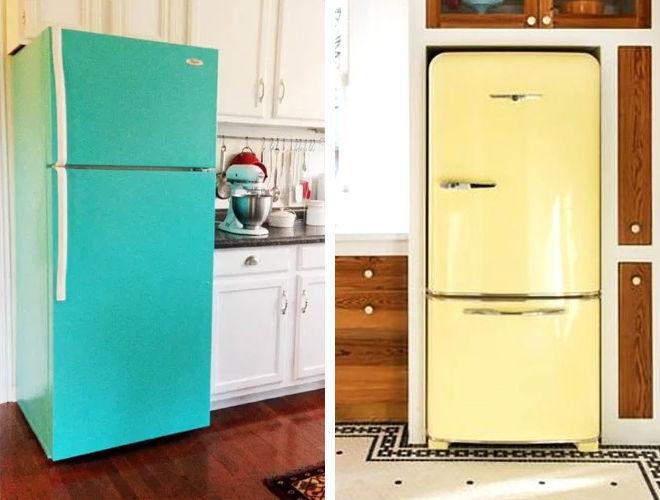 Покраска холодильника своими руками: инструкция по окраске, чем покрасить лучше, видео и фото
